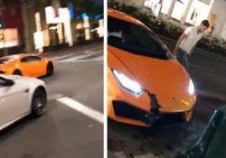 Fa lo spaccone con la Lamborghini appena noleggiata ma va a finire così A tutto gas per le strade di Beverly Hills. Ma il viaggio dura poco - CorriereTV