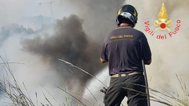 canadair, incendio, Catanzaro, Calabria, Cronaca