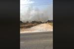 Vasto incendio a Valderice, evacuate decine di villette