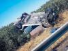 Auto capotta sull'A20 fra Barcellona e Milazzo, grave una donna di 23 anni