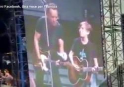 """Leo: 15 anni e tre live sul palco con Springsteen La storia di un giovane fan del """"Boss"""" - Ansa"""
