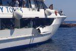 Paura in una minicrociera alle Eolie, motonave si scontra con uno yacht: 5 feriti