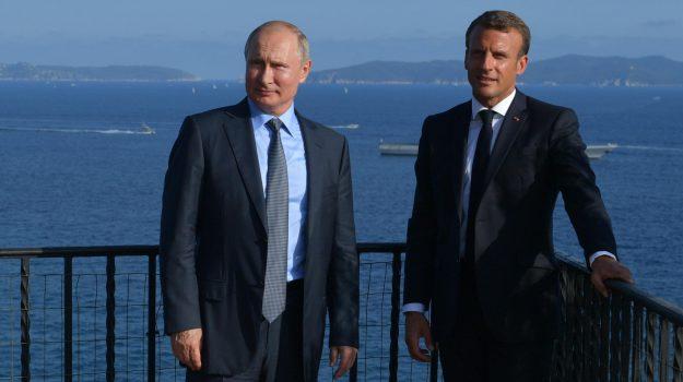 g7, Emmanuel Macron, Vladimir Putin, Sicilia, Mondo