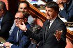 """Crisi di governo, Renzi al Senato: """"In questo momento serve responsabilità"""""""