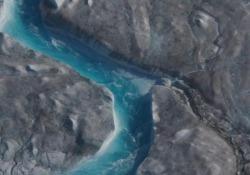 """Riscaldamento globale: le immagini della Groenlandia che si """"scioglie"""" Il video realizzato da Into the Ice - Ansa"""