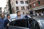 """Crisi di governo, Salvini in aula al Senato: """"Taglio del numero dei parlamentari e poi al voto"""""""