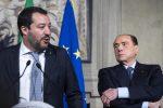"""Crisi di governo, Salvini avverte Berlusconi: """"Chi va con il Pd non va con la Lega"""""""
