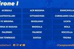 Serie D, Acr ed Fc Messina nel girone I con Palermo e le calabresi