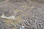 Acquazzone su Lamezia, strada rovinata dalla pioggia a Sambiase - Foto