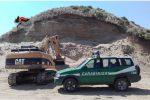 Escavazione abusiva a Sersale, sequestrata un'area da 5mila metri quadrati: 2 denunce