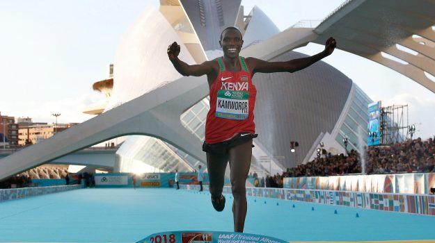 mezza maratona, record, Geoffrey Kamworor, Sicilia, Sport