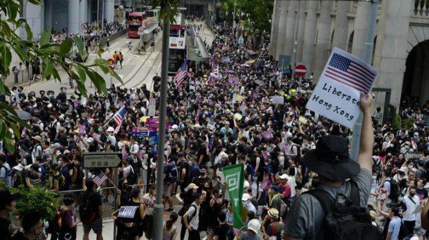proteste ad Hong Kong, Sicilia, Mondo