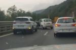Incidente a catena sull'autostrada A2 nei pressi di Pizzo, un ferito