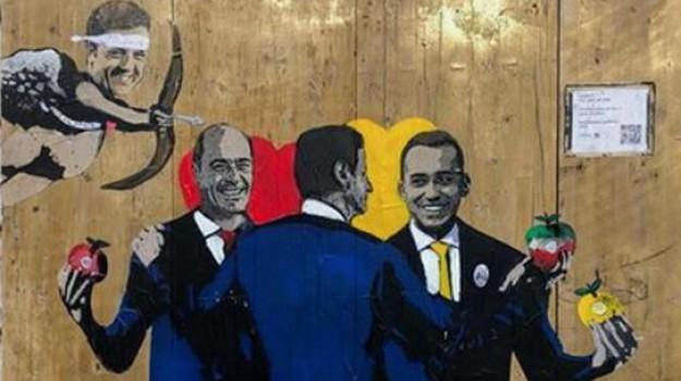 governo, murales, Sicilia, Politica