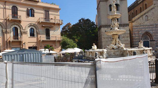 Al via il restauro della fontana Orione a Messina, primo intervento di pulizia