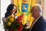 """Serena Petralia accolta dal sindaco di Taormina: """"Per noi è come se avessi vinto"""""""