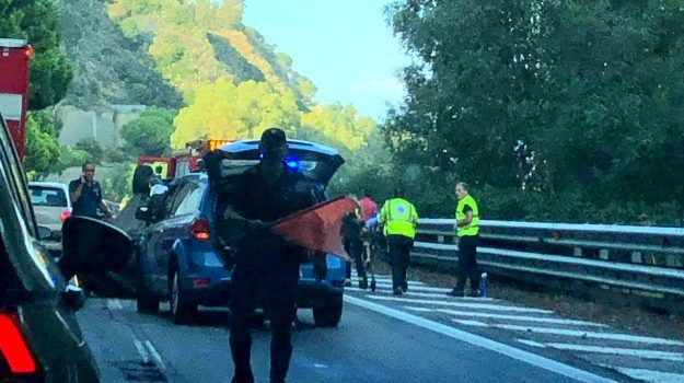 autostrada, giampilieri, incidente, messina-catania, Messina, Sicilia, Cronaca