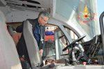 Lamezia Terme, il vescovo in visita al distaccamento aeroportuale dei vigili del fuoco