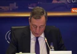 "Bce, Draghi: ""Rallentamento eurozona superiore al previsto"" Le parole del presidente della Bce - Agenzia Vista/Alexander Jakhnagiev"