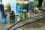 Incendio in un deposito a Messina, paura per la presenza di bombole di gas - Foto