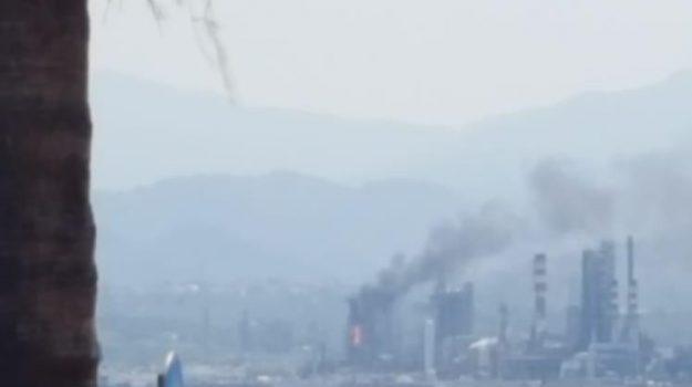 incendio, raffineria di milazzo, Messina, Sicilia, Cronaca