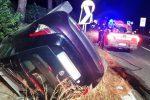 Incidente sulla Messina-Palermo, auto finisce fuori strada e si ribalta - Foto