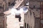 Inseguimenti in auto e finte bombe, a Matera le scene d'azione per il nuovo James Bond