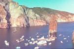 """""""Sposalizio dei Faraglioni"""", cento barche festeggiano nelle acque di Lipari"""