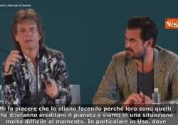 Mick Jagger a Venezia: «Attivisti per il clima sul red carpet? Hanno il mio supporto» Il frontman dei Rolling Stones alla Mostra del Cinema di Venezia per presentare «The burnt orange heresy» - Agenzia Vista/Alexander Jakhnagiev