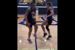 Volley, il saluto con i piedi più coordinato di sempre