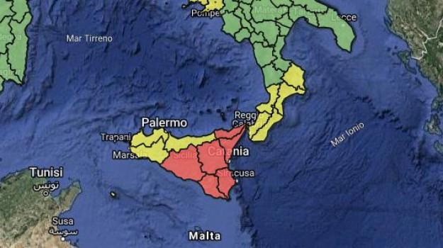 allerta rossa, maltempo, maltempo in sicilia, Sicilia, Meteo
