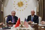 Siria, accordo tra Turchia e Stati Uniti: Erdogan pronto a una tregua di 5 giorni