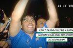 Maradona compie 59 anni, i tifosi lo festeggiano con un trono - Video