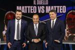 """Duello in tv Renzi-Salvini. Il leader della Lega: """"Si è inventato un governo"""". L'ex premier: """"Rosichi"""""""