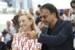 Miuccia Prada con il regista Inarritu al festival di Cannes