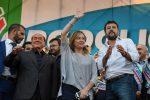 """In 200mila a Roma per il centrodestra unito. Salvini: """"Vinciamo le regionali e governo va a casa"""""""