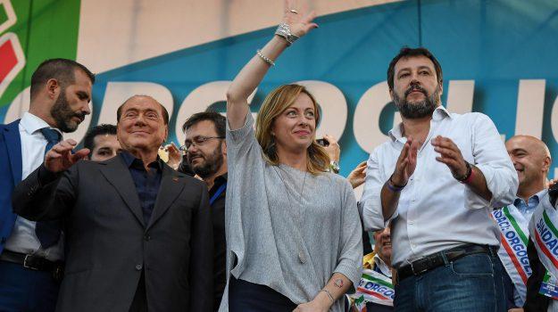 centrodestra, forza italia, governo, lega, giorgia meloni, Matteo Salvini, silvio berlusconi, Sicilia, Politica