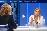 """Scontro Gruber-Meloni su La7, la conduttrice: """"Sta dicendo sciocchezze"""" - Video"""