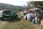 Gestione illecita di rifiuti in un'area demaniale, tre persone denunciate a Gimigliano