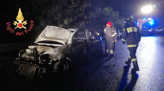 incendio auto, Catanzaro, Calabria, Archivio