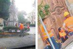 Cantieri di servizi a Messina, c'è chi lavora duramente e chi invece si gira i pollici
