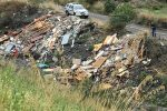 Messina, discarica abusiva con rifiuti di amianto lungo il torrente San Filippo - Foto
