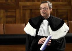 Draghi: «Sono ottimista sul futuro, Ue ha una base solida» Le parole del Presidente della Bce ricevendo la laurea honoris causa in Economia dall'Università Cattolica di Milano - Agenzia Vista/Alexander Jakhnagiev