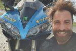 Manuel Cesta e la sua moto