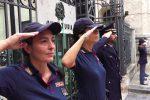 Agenti uccisi a Trieste, l'omaggio dei vigili del fuoco di Messina - Foto