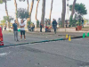 Palo della luce piomba in strada, tragedia sfiorata sul lungomare di Patti