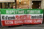 """""""No ad un governatore imposto dall'alto"""", a Roma manifestazione del Pd calabrese"""