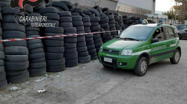 denuncia Castiglione Cosentino, deposito pneumatici, smaltimento pneumatici, Cosenza, Calabria, Cronaca