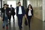 Riccardo Nuti accompagnato dal suo legale in procura a Palermo