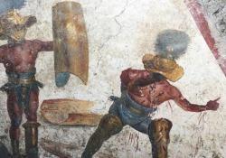 Scoperto affresco a Pompei, Franceschini: «La riscossa della città» L'opera è stata trovata nel cantiere della Regio V - Ansa